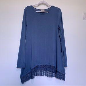 LOGO Lori Goldstein Long Sleeve Tunic Top Size M